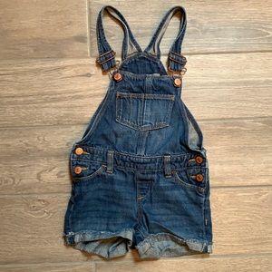 Old navy girls bib Jean shorts size XS (5)